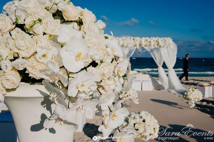 Suggestive slice of  wedding ceremony on the beach by Sara Events Sardinia