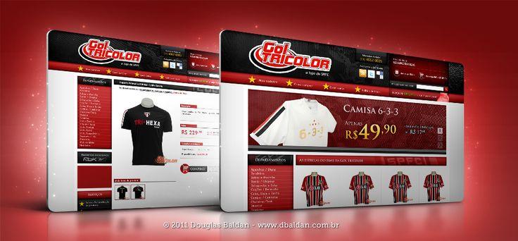 Layout Gol Tricolor | Douglas Baldan - Online Portfolio | Criar sites, blogs, Templates de Wordpress, Freelancer, layout