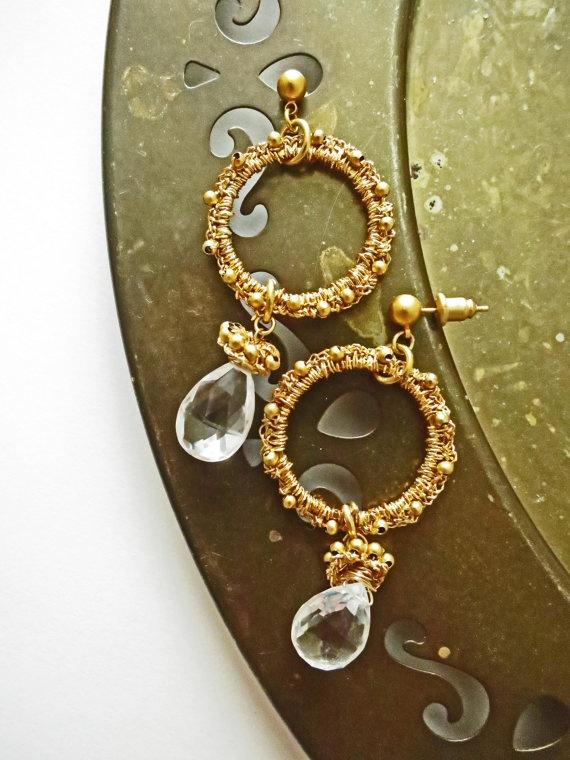 83 best Jewelry Wire & Fiber Crocheted Earrings images on