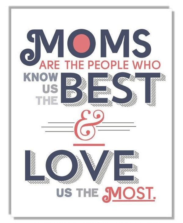 Moms are the best! Send mothers day wishes to mom & tell how much you love her! Tap to see more inspiring quotes about mother's love. ♥ - @mobile9