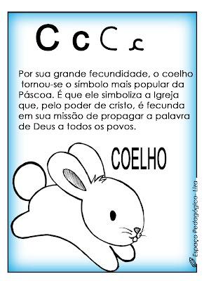 ESPAÇO PEDAGÓGICO: Alfabeto de Páscoa! Pode ser utilizado como jogral de Páscoa!
