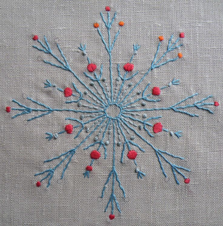 Nancy nicholson radial motif in whipped running stitch