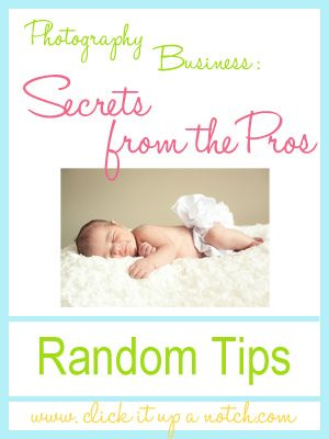 Random Photography Business Tips - Brought to you by http://BootcampMedia.co.uk