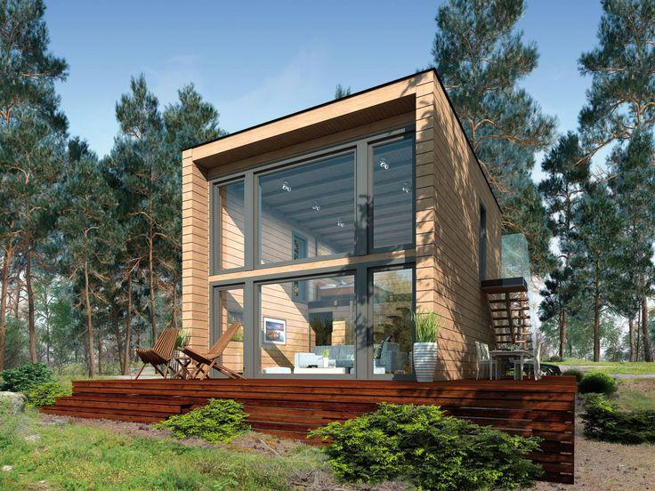 Kubu Holzhaus mit viel Glas