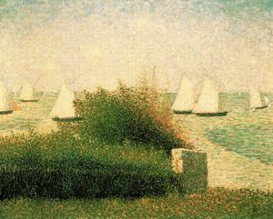 Boats Riding at Anchor, Grandcamp - (Georges Pierre Seurat)