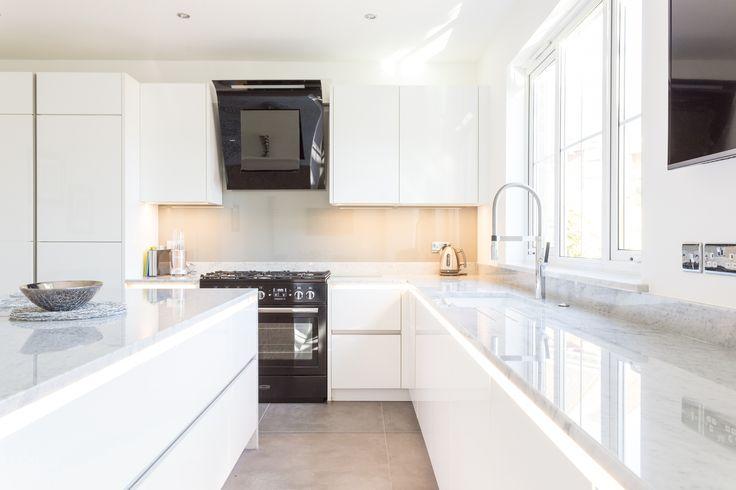 12 best Nolte Matrix Art Lux Gloss White kitchen with marble - nolte küchen planer