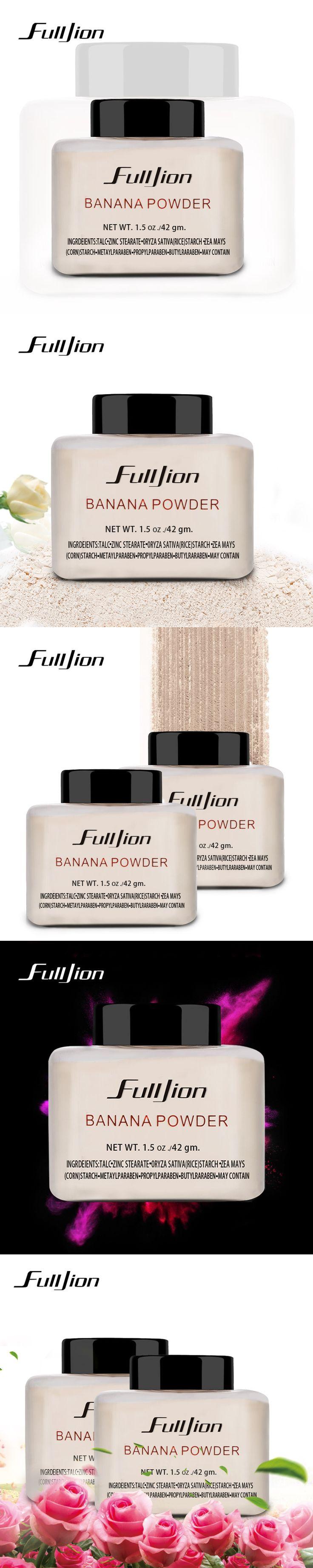 Fulljion 1pc Women Makeup Loose Banana Powder 1.5 oz Bottle Authentic Luxury For Face Foundation Beauty Makeup highlighter