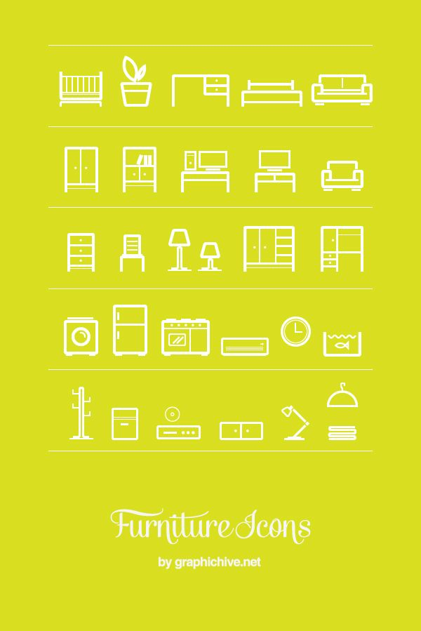 Free Furniture Icons. #graphic #design #logos