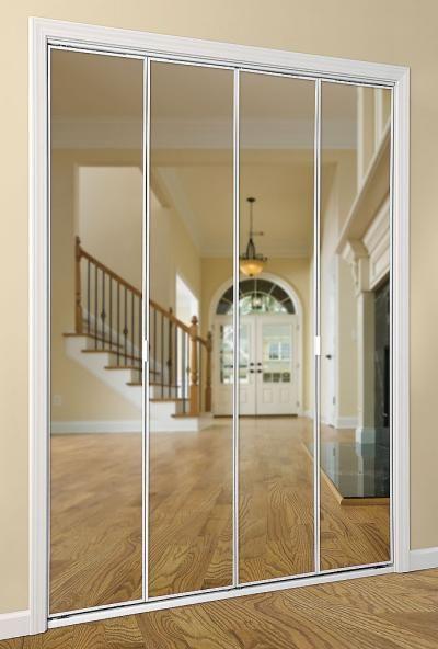 Mirrored Bifold Closet Doors For Bedrooms : Ideas about mirrored bifold closet doors on