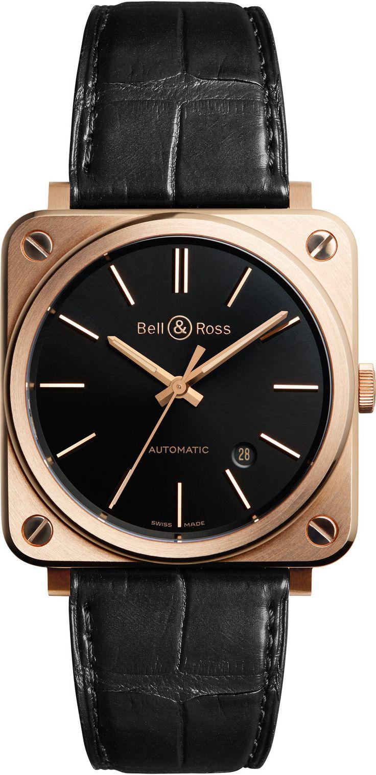 Bell & Ross BR S reloj de oro rosa