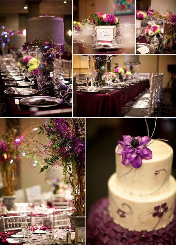 A plum fall wedding