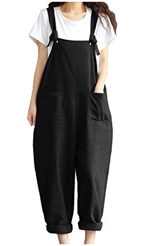 897a73e2aa7 SportsX Women s Overalls Pockets Retro Gallus Trousers Rompers Long Pants