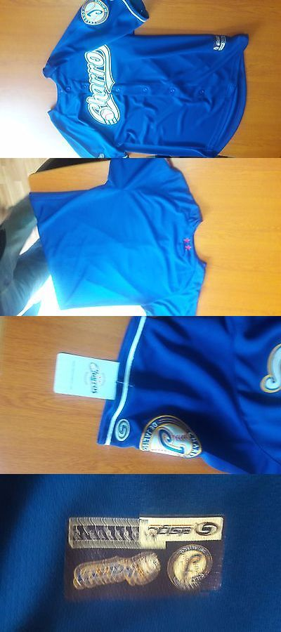 Olympics 27291: Charros De Jalisco- Mexico Pro Team- Official Jersey- Blue- Large- By Siglo -> BUY IT NOW ONLY: $74.99 on eBay!
