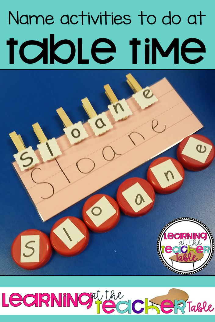 Table Time Name Activities