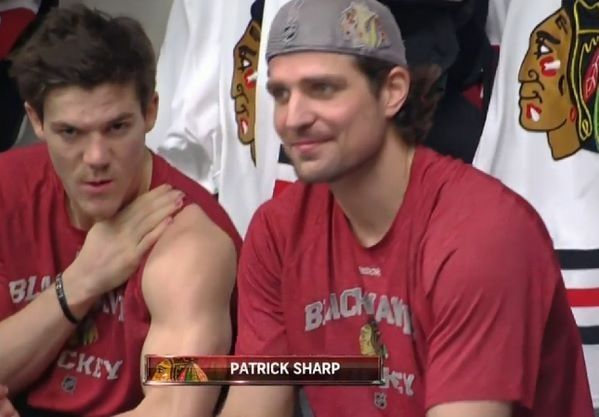 Shaw mugging for the NBC cameras and Sharp just looking pretty.