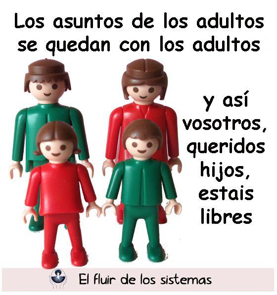Los hijos son más libres cuando no se implican en los asuntos de sus anteriores