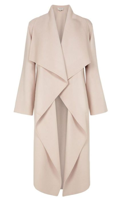 Loretta waterfall coat, $1,250, available at Hobbs.