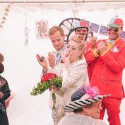 Alice in Wonderland Wedding - tweedle dee and tweedle dum as best man