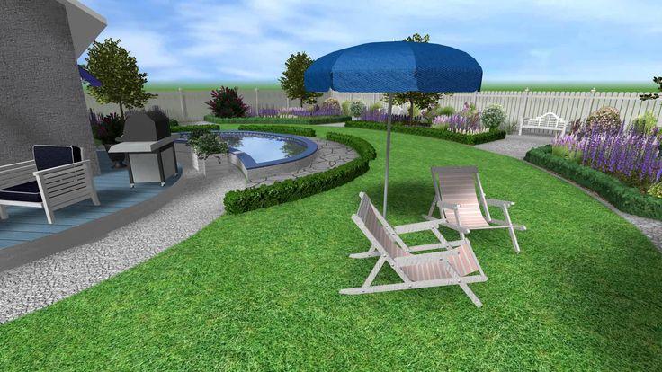 Romantická zahrada s bazénem