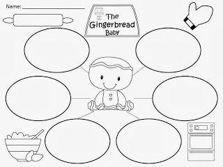 FREEBIE: The Gingerbread Baby by Jan Brett Bubble Map