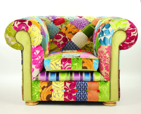 Bespoke Patchwork Chesterfield Armchair Designers by JustinaDesign, £795.00