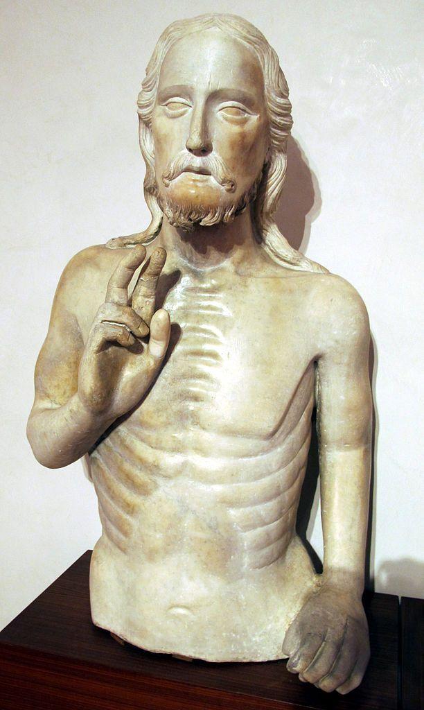 Tino_di_Camaino,_battesimo_di_cristo. Опера дель Дуомо, Тино Camaino (1285-1337), крещение Христа (1320).