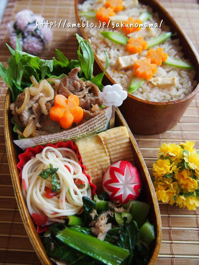 Buta Shogayaki Bento, Japanese-style Pork Ginger and Vegetables Boxed Lunch by gakunomam