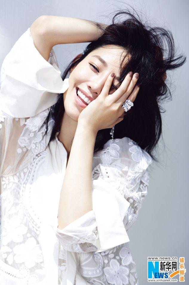 Chinese actress Bai Baihe   http://www.chinaentertainmentnews.com/2015/08/bai-baihe-poses-for-fashion-magazine.html