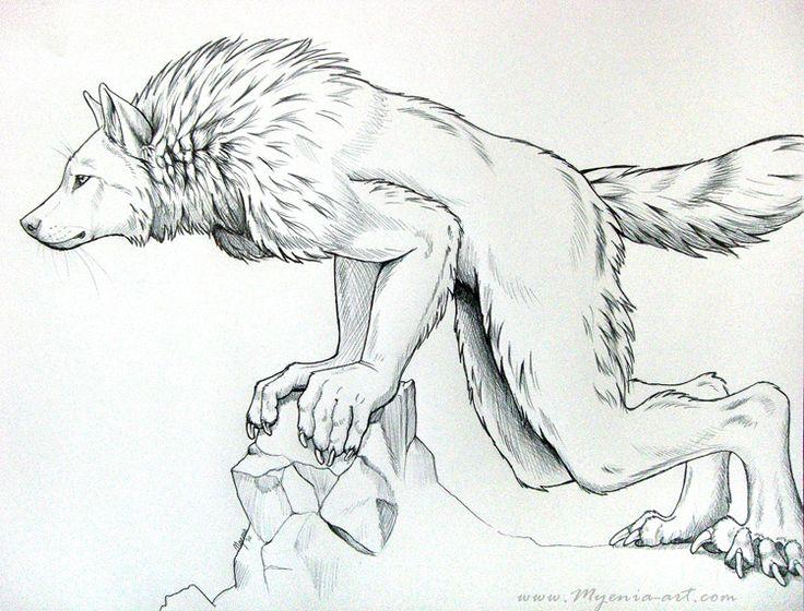Werewolf Leaning by sarahfinnigan.deviantart.com on @DeviantArt