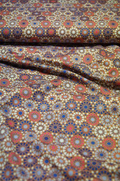 Stoff Ornamente - *SALE*: Eleganter Viskose-Jersey, Retro-Dessin - ein Designerstück von DieScheune-Zarges bei DaWanda