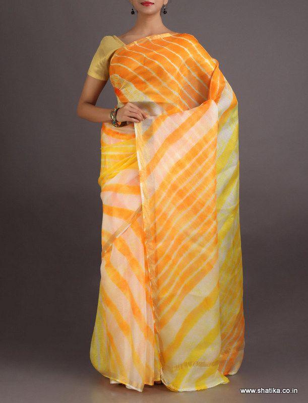 Latika Luscious Thick And Thin Lines #LehariyaSilkSaree