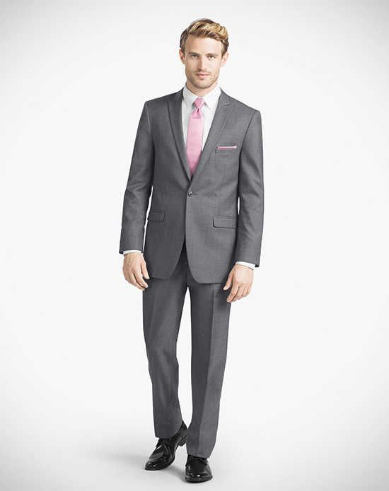 Generation Tux Iron Gray Peak Lapel Suit Wedding Tuxedos + Suit photo