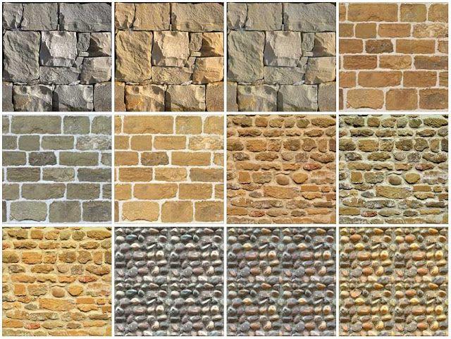 5 Seamless Stone Wall Texture 7c Recursos Pinterest