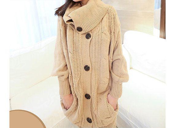 Long Wool Sweater Coat