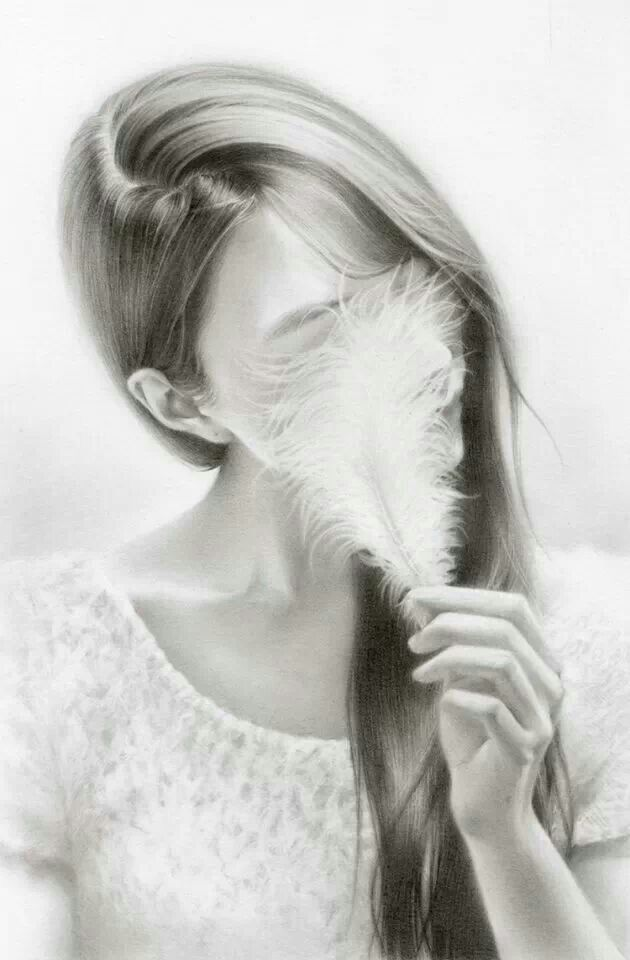 Amazing pencil drawing of a girl