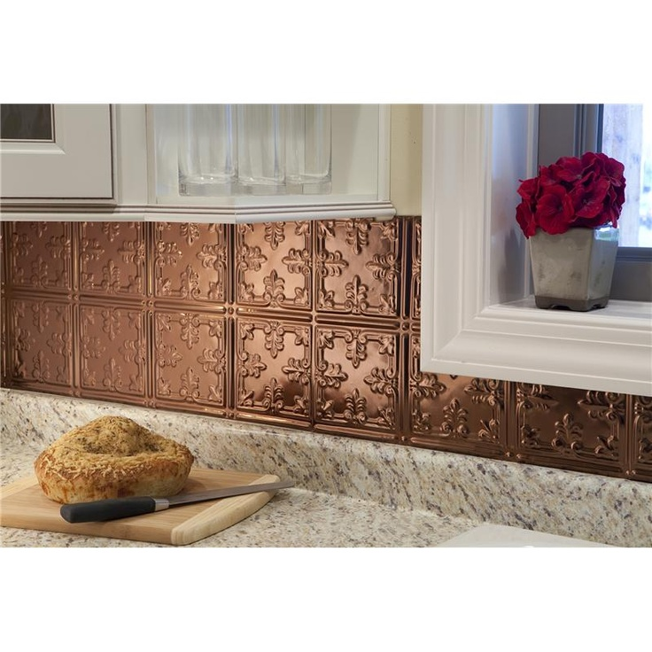45 best Copper Kitchen Backsplashes & Wall Tiles images on Pinterest Kitchen Backsplash Ideas Tile With Gel Inserts on wall tile inserts, mosaic tile inserts, kitchen countertop inserts, carpet tile inserts, kitchen backsplash metal tiles, tile design inserts, bathroom inserts, fireplace tile inserts, kitchen sink inserts,