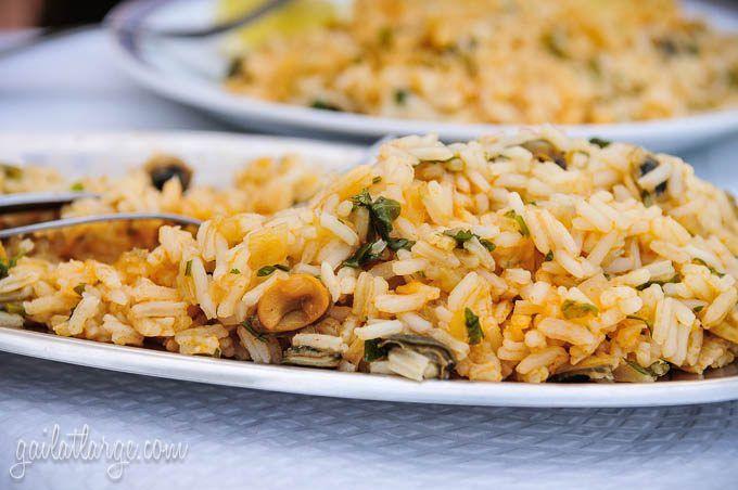 arroz de lapas (limpet rice) in Madeira