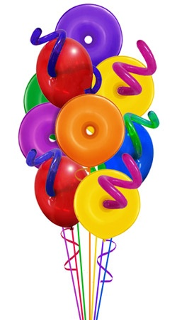 Geo Donuts Balloon Bouquet 9 Balloons Hand Delivered By Balloonplanet