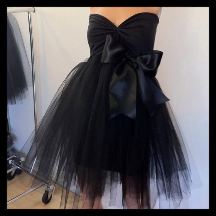 what does it mean when wedding invitation says black tie invited%0A Black Tutu Black Tie Cocktail Dress custom order or in stock           via  Etsy