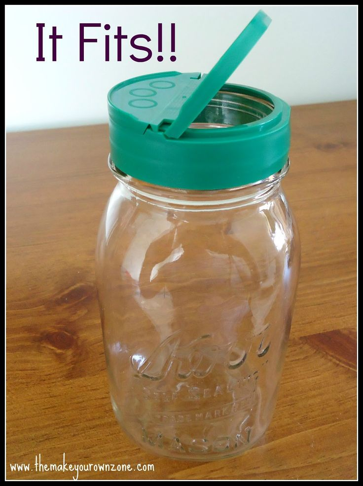 Parmesan Cheese Lids fit on Mason Jars - the options with this are endless!!! Baking Soda, Flour, etc!    I need to remember this!