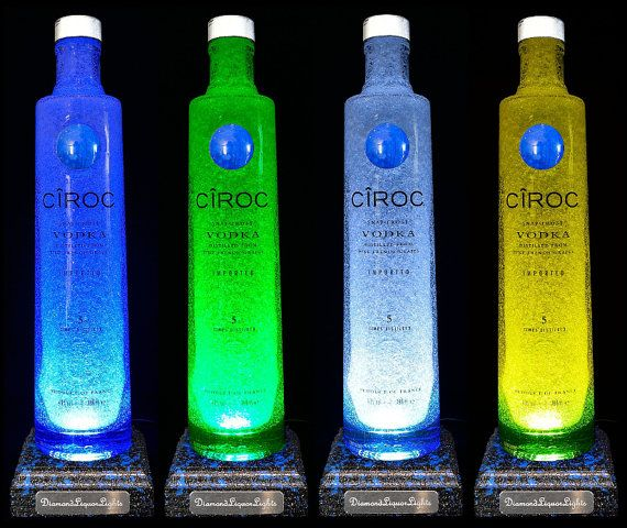 Ciroc Vodka Multicolour LED Bottle Lamp by DiamondLiquorLights