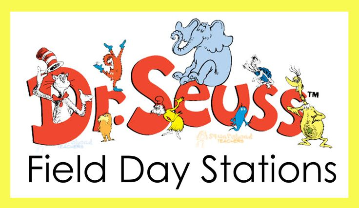 This Dr. Seuss-inspired elementary school field day was submitted by Patti, a PE teacher in Arizona. There are 21 stations each class rotates through during the day.  Each teacher stays with his/he...
