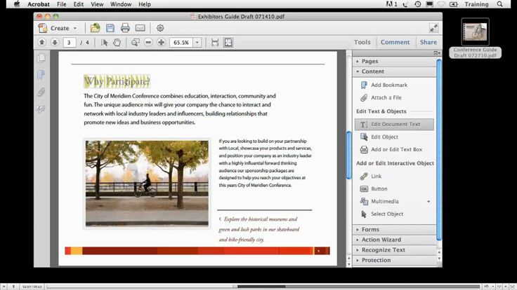 Edit text and other stuff in pdf file with adobe acrobat