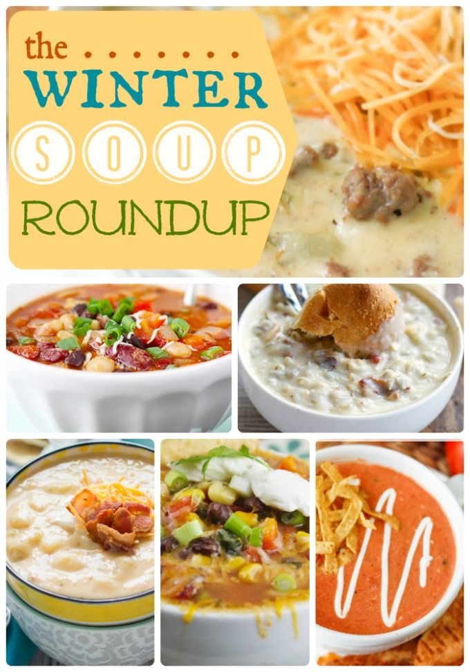 Soup Roundup at http://therecipecritic.com Your last stop for all of the best soups from around the web!