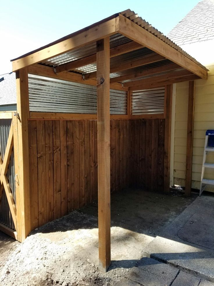 Covered Bbq Area And Privacy Fence He Built Diy Outdoor