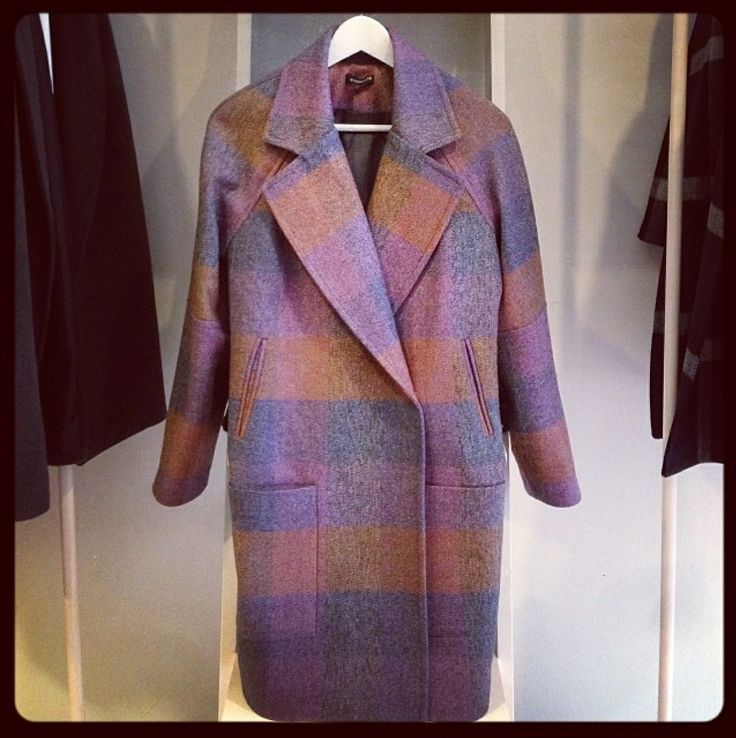 Monochromstore |  pink plaid coat