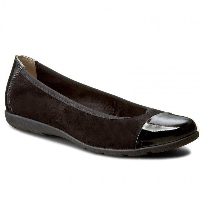 Baleriny CAPRICE - 9-22152-28 Black Sue Comb 033