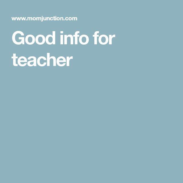 Good info for teacher