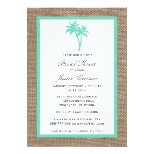 257 best Beach Bridal Shower Invitations images on Pinterest