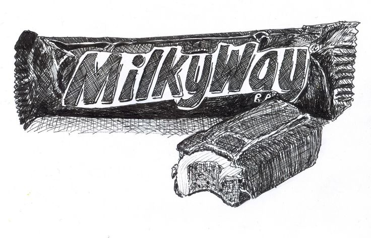 drawling of a milkyway candy bar - Google Search